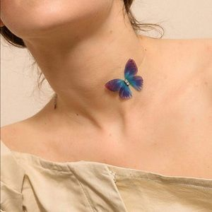 Jewelry - Handmade Transparent Butterfly Choker